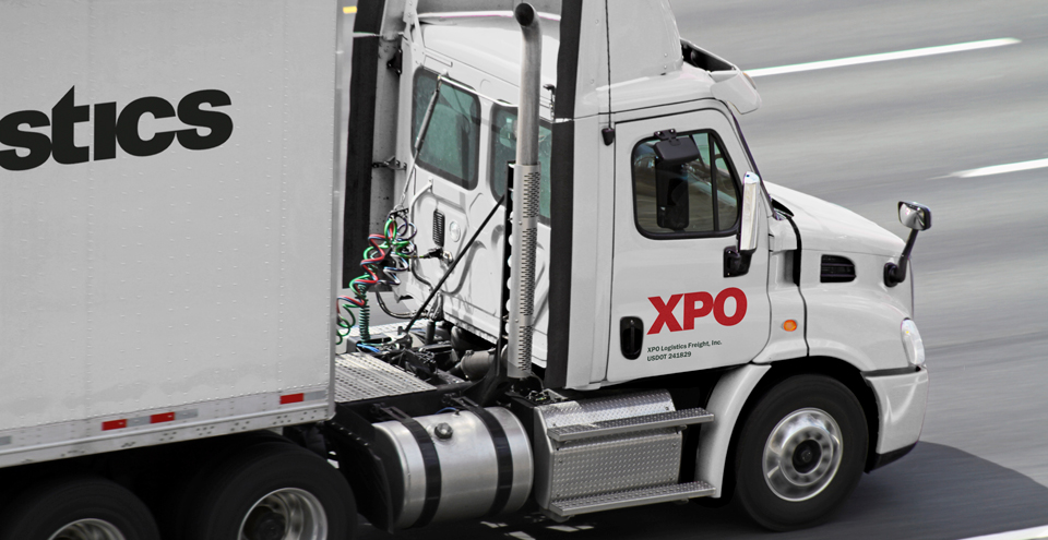 XPO truck on road